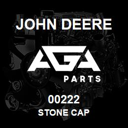00222 John Deere STONE CAP   AGA Parts