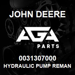 0031307000 John Deere Hydraulic Pump Reman | AGA Parts
