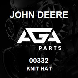 00332 John Deere KNIT HAT | AGA Parts