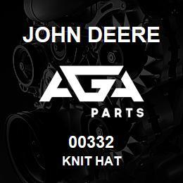 00332 John Deere KNIT HAT | AGA Parts