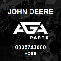0035743000 John Deere Hose | AGA Parts
