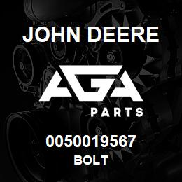 0050019567 John Deere Bolt | AGA Parts