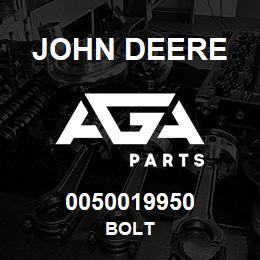 0050019950 John Deere Bolt | AGA Parts