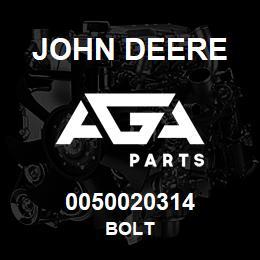 0050020314 John Deere Bolt | AGA Parts