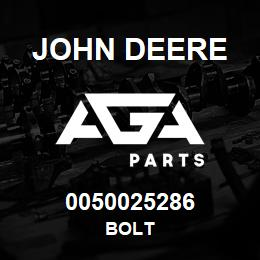 0050025286 John Deere Bolt   AGA Parts