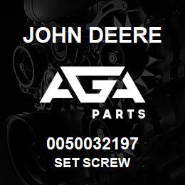 0050032197 John Deere Set Screw | AGA Parts