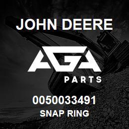 0050033491 John Deere Snap Ring | AGA Parts