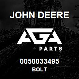 0050033495 John Deere Bolt | AGA Parts
