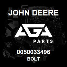 0050033496 John Deere Bolt | AGA Parts