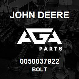 0050037922 John Deere Bolt | AGA Parts
