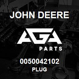 0050042102 John Deere Plug | AGA Parts