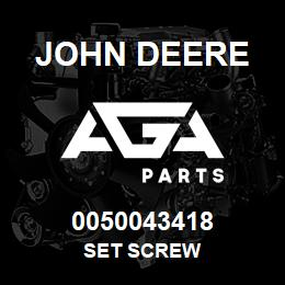 0050043418 John Deere Set Screw | AGA Parts
