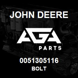 0051305116 John Deere Bolt | AGA Parts