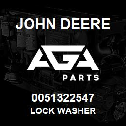 0051322547 John Deere Lock Washer | AGA Parts