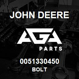 0051330450 John Deere Bolt | AGA Parts