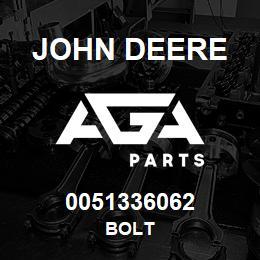 0051336062 John Deere Bolt | AGA Parts