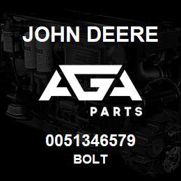 0051346579 John Deere Bolt   AGA Parts