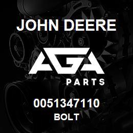 0051347110 John Deere Bolt | AGA Parts