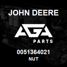 0051364021 John Deere NUT | AGA Parts