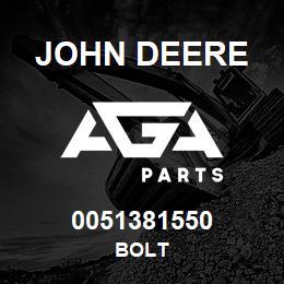 0051381550 John Deere Bolt | AGA Parts