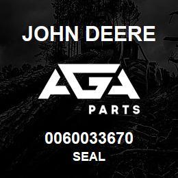 0060033670 John Deere Seal | AGA Parts