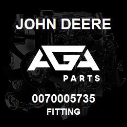 0070005735 John Deere Fitting | AGA Parts