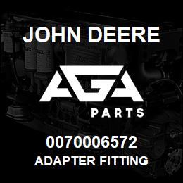 0070006572 John Deere Adapter Fitting | AGA Parts