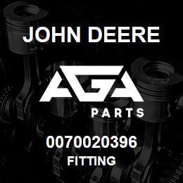 0070020396 John Deere Fitting   AGA Parts