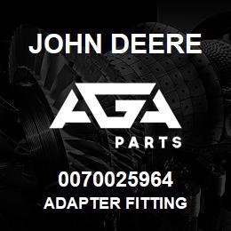 0070025964 John Deere Adapter Fitting | AGA Parts