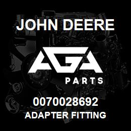 0070028692 John Deere Adapter Fitting | AGA Parts
