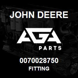 0070028750 John Deere Fitting | AGA Parts