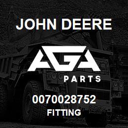 0070028752 John Deere Fitting | AGA Parts
