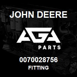 0070028756 John Deere Fitting | AGA Parts