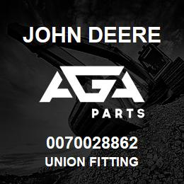 0070028862 John Deere Union Fitting | AGA Parts