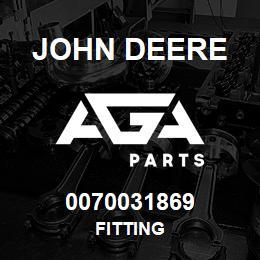 0070031869 John Deere Fitting   AGA Parts