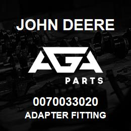 0070033020 John Deere Adapter Fitting | AGA Parts