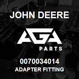 0070034014 John Deere Adapter Fitting | AGA Parts