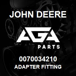 0070034210 John Deere Adapter Fitting | AGA Parts