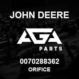 0070288362 John Deere Orifice | AGA Parts