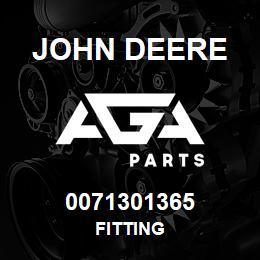 0071301365 John Deere Fitting | AGA Parts