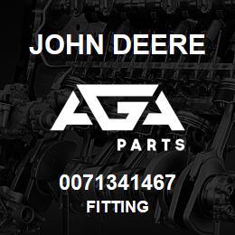 0071341467 John Deere Fitting | AGA Parts