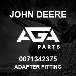 0071342375 John Deere Adapter Fitting | AGA Parts
