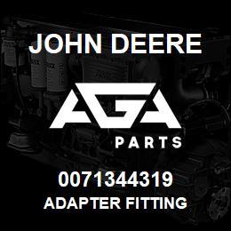0071344319 John Deere Adapter Fitting | AGA Parts