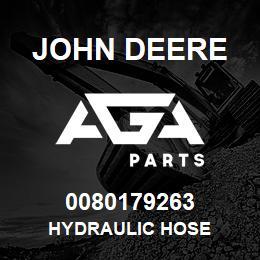 0080179263 John Deere Hydraulic Hose | AGA Parts