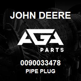 0090033478 John Deere Pipe Plug | AGA Parts