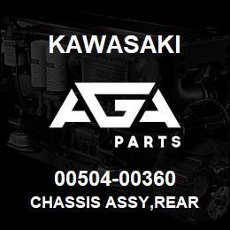 00504-00360 Kawasaki CHASSIS ASSY,REAR | AGA Parts