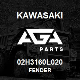 02H3160L020 Kawasaki FENDER | AGA Parts