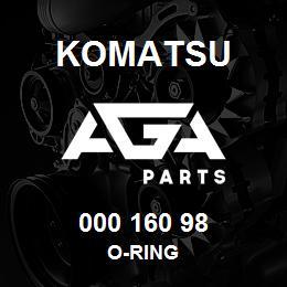 000 160 98 Komatsu O-ring | AGA Parts