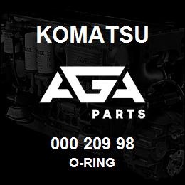 000 209 98 Komatsu O-ring | AGA Parts