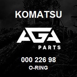 000 226 98 Komatsu O-ring | AGA Parts
